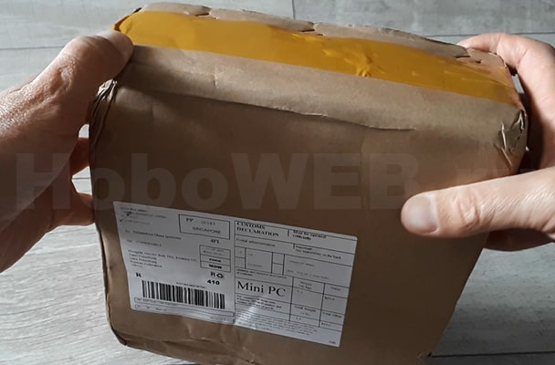 Внешняя упаковка посылки