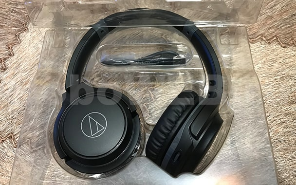 Наушники audiotechnica в чёрном цвете